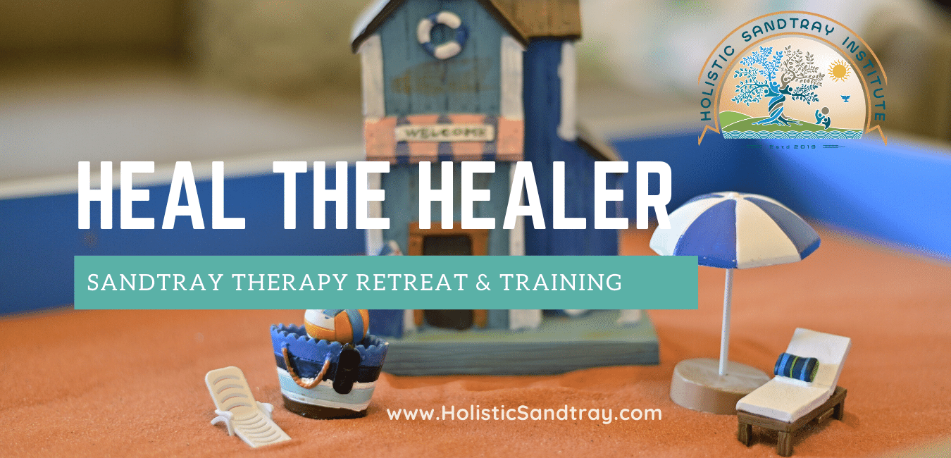 HEAL THE HEALER RETREAT … You will get …  *Professional Development TRAINING *Advanced Sandtray Techniques *Neurobiologically-Informed Trauma Therapy https://holisticsandtray.com/events/heal-the-healer/